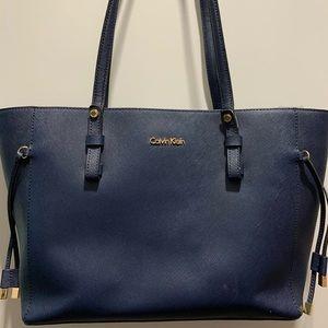 Calvin Klein Navy Tote/Shoulder Bag